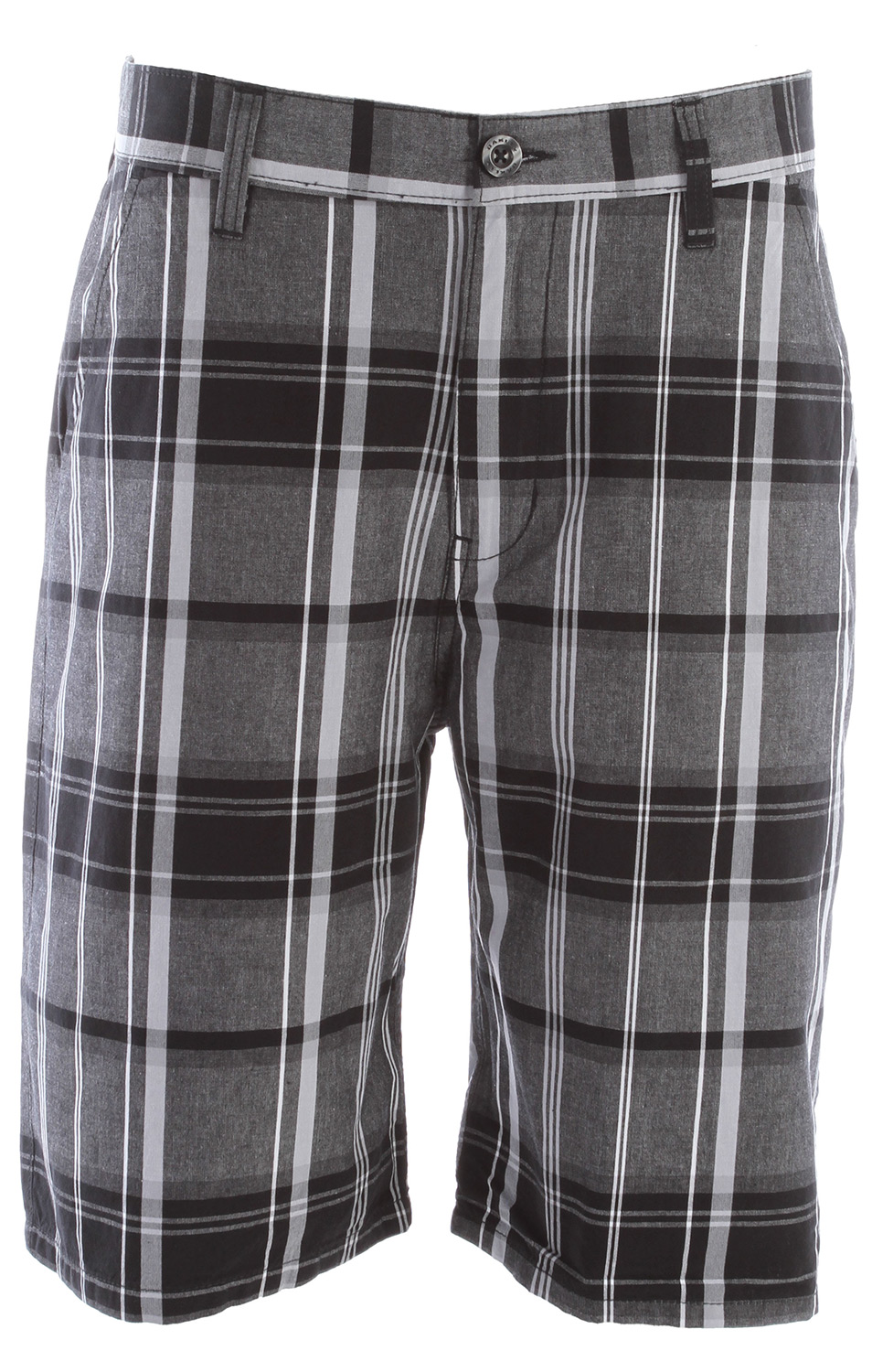 Yarn-dye plaid walkshorts with button closure, zip fly, back welt pockets, front logo embroidery and back flat label.Key Features of the Oakley False Bay Shorts: 100% cotton Regular fit - $32.95