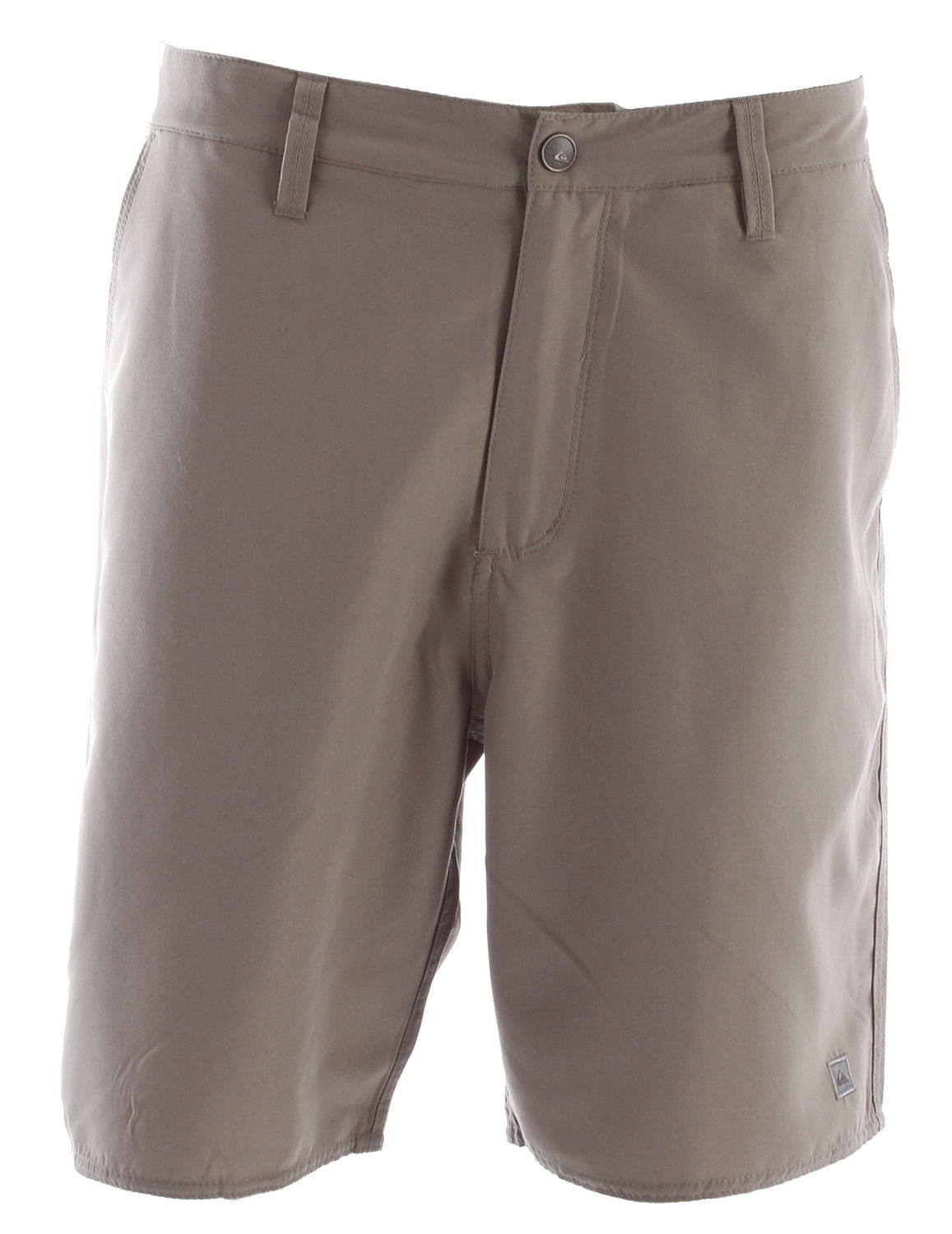 "Surf Key Features of the Quiksilver Huntington Beach 3 Shorts: Fixed waist boardwalk with snap closure, side entry, coin, cell phone and back welt pockets 100% polyester light weight dynasuede regular fit 9"" inseam - $38.95"