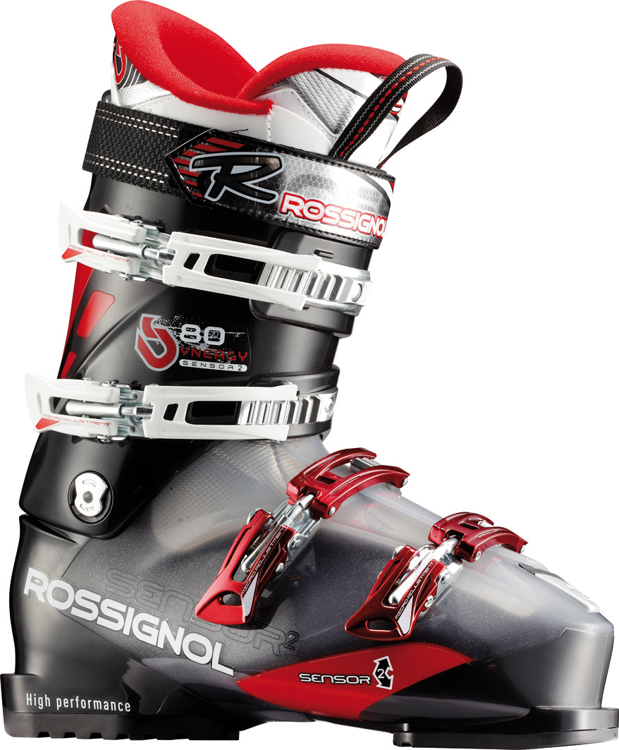 Ski The Synergy Sensor2 80 has a medium wide 102mm fit with a moderate 80 flex index for advanced frontside skiers. The Sensor Fit liner is a true lasted liner to address the common problem fit areas. The seamless one piece tongue and cushy cutout instep pocket eliminate pressure points across the tops of the toes and that pesky instep bone. The grippy rubber heel gives extra traction for walking around the resort. Ambitious all mountain skiers who need a wider fit without sacrificing performance.Key Features of the Rossignol Synergy Sensor2 80 Ski Boots: Last 102 Flex index 80 Shell specification NEW POLYOLEFINE + SENSOR2 INSERT Bootboard PU Cuff specification NEW POLYOLEFINE + POLYOLEFINE INSERT Liner - technology SPORT THERMO FIT PLUS Liner - tongue ONE-PIECE TOE BOX Buckles - material 4 MICRO - 100% ALUMINIUM Buckles - micro DIAGONAL BUCKLES Buckles - teeth 4th: QUICKSET 3 POSITIONS 3rd: 3 POSITIONS Canting CANTING Power strap 35mm - $239.95