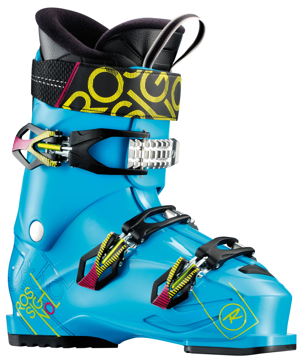Ski TMX combines fresh new style with award-winning Sensor Fit technology for today's freestyle skiers. Featuring the all-new Sensor, Sensor, and junior shells, TMX boots deliver contoured fit, a strong heel cup and asymmetrical toe box. Sensor Fit liners provide accommodating insteps and more articulate ankle areas, increasing comfort, performance and warmth.Key Features of the Rossignol TMX 90 Ski Boots Cyan: last : 100 mm FLEX : 90 MATERIAL : POLYURETHANE PADDING : MOLDED PU HARD - $219.95