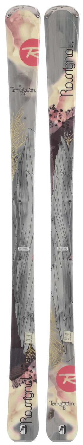 Ski Give in to Temptation. Rip down groomers, float through powder, dice through the trees on this award-winning new women's breed of rockered all-mountain skis. Rossignol's unique combination of Auto Turn Rocker, Extended Sidecut and Cascade Tip deliver an incredible all-mountain experience for every skier type. As skier input and skill levels increase, performance levels amplify in all snow conditions. Traditional camber underfoot with aggressive sidecuts provide powerful edge grip and confident stability on hard snow. Tip and tail rocker provide easy maneuverability, playfulness and effortless speed control. The Temptation series dominates the entire mountain by achieving a whole new benchmark of uncompromising on and off-trail versatility. Let Temptation rule...on this true, one-skiquiver.  Sidecut: 122-78-111    Radius: 15.4 M (166     Sizes: 142-150-158-166    Tech: Auto Turn Rocker     Rocker: 30% / Low    Camber: 70% / High    Construction: Structure : Central Sidewall     Core: Wood/Carbon    Extended Sidecut    Cascade Tip - $197.95