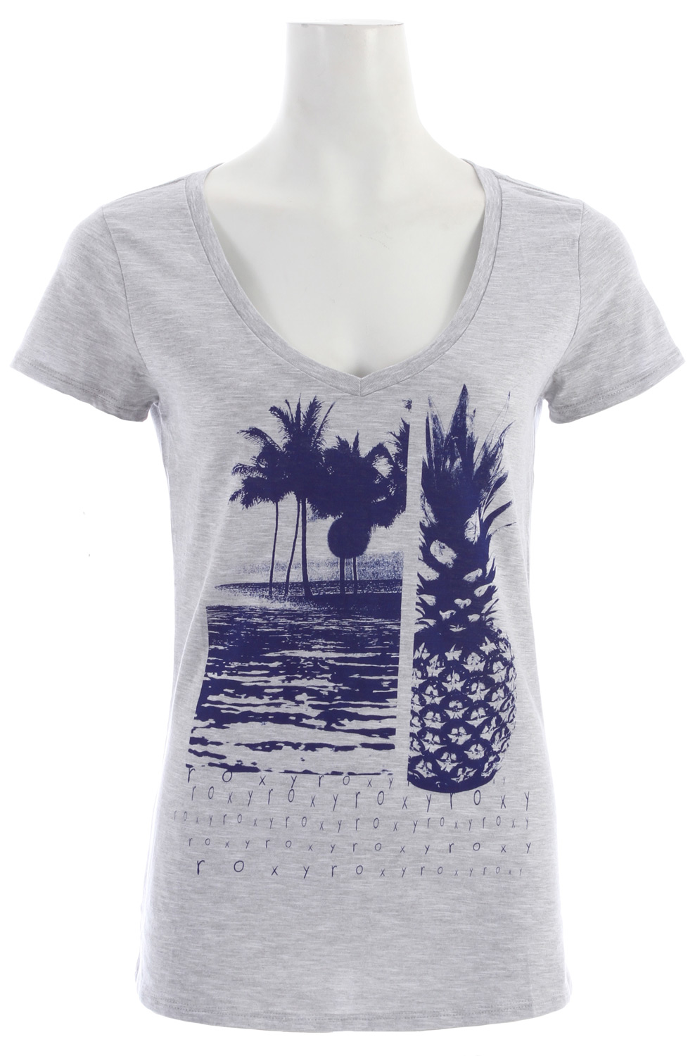 "Surf Key Features of the Roxy All Together T-Shirt: 100% cotton slub jersey V-neck tee 26"" hps - $18.95"
