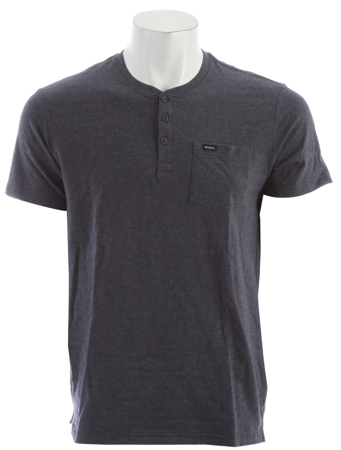 RVCA Shopkeeper Henley Ink Heather - $27.95