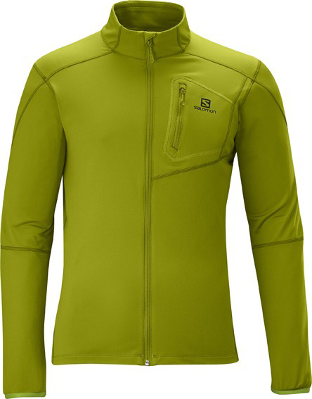 Camp and Hike Super soft, comfortable stretch fleece provides a cozy layer for mellow mornings or any activity in cool weather. A very versatile midlayerKey Features of the Salomon Discovery Fz Midlayer: SMART SKIN Actitherm 1 Chest pocket Reflective branding Active Fit 460G / 16.23 oz Body: PES 87%, EL 13% - $57.95