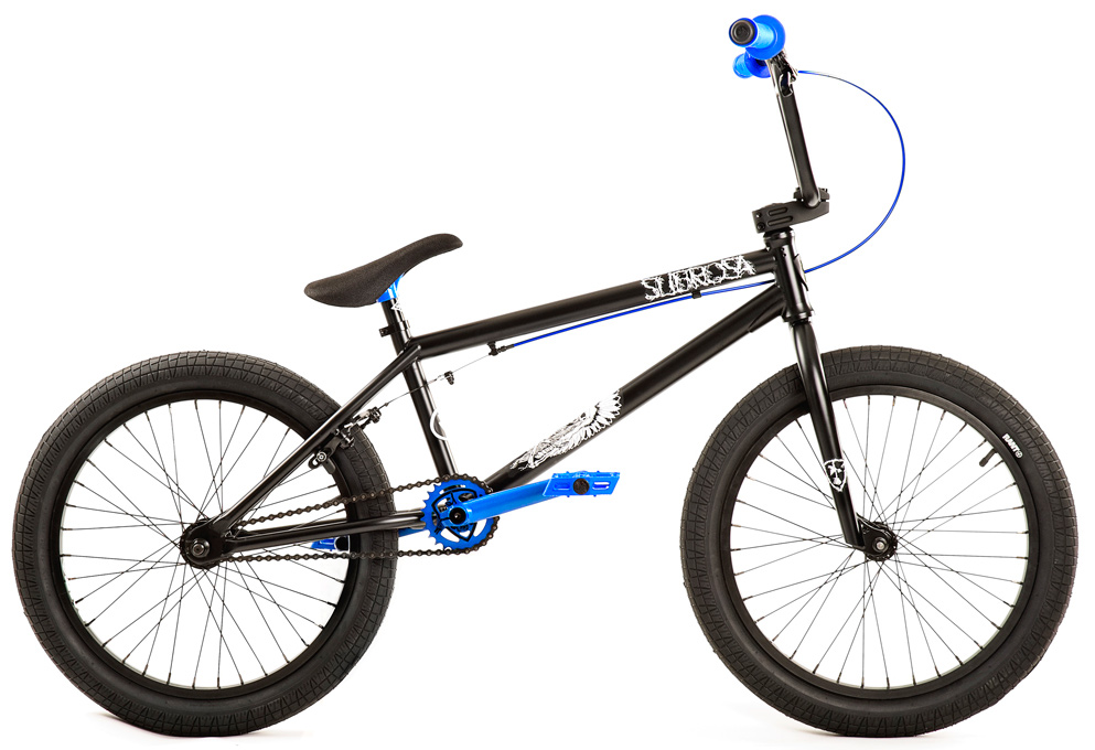 "BMX Key Features of the Subrosa Salvador Dirt BMX Bike 20"": FRAME: 1020 hi-tensile steel - 20.5"" TT / 75 degree HT / 71 degree ST / 13.75"" CS / 9"" standover height FORK: 1020 hi-tensile steel - 30mm offset, tapered legs, integrated bearing race BARS: 1020 hi-tensile steel - 8.25"" rise / 12 degree backsweep / 1 degree upsweep / 28"" wide GRIPS: Shadow Finger Banger BAR ENDS: Shadow Nylon Push In HEADSET: Sealed integrated headset STEM: Custom Forged Subrosa Hold On alloy top load RIMS: Rant alloy 36H FRONT HUB: Alloy, 3/8"" axle REAR HUB: Semi sealed alloy 14mm axle cassette TIRES: 20"" x 2.35"" knobby front / 20"" x 2.2"" street rear CRANKS: Rant 4130 seamless chromoly tubular 3pc. 8 spline, 175mm, with sealed mid BB SPROCKET: Subrosa Shield steel GEARING 25-9 CHAIN: Taya 410 PEDALS: Shadow Ravager Plastic BRAKES: Rant Alloy U-brakes w/ straight cable and Rant alloy lever SEAT: Shadow Solus Slim 1pc Seat / Post combo SEAT CLAMP: Slim style alloy WEIGHT: 26.2 lbs - $353.95"