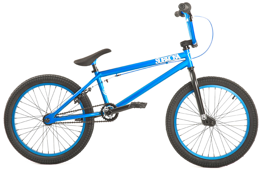 "BMX Key Features of the Subrosa Tiro BMX Bike 20"": FRAME: 1020 hi-tensile steel - 20.0"" TT / 75 degree HT / 71 degree ST / 13.75"" CS 8.5"" standover height FORK: 1020 hi-tensile steel - 35mm offset BARS: 1020 hi-tensile steel - 7.75"" rise / 12 degree backsweep / 1 degree upsweep / 28"" wide GRIPS: Shadow Finger Banger BAR ENDS: Shadow Nylon Push In HEADSET: 1 1/8"" threadless headset STEM: Rant alloy front load RIMS: Rant alloy 36H FRONT HUB: 3/8"" steel front hub REAR HUB: Semi sealed, alloy 14mm Axle cassette TIRES: 20"" x 2.20"" front and rear CRANKS: Rant 4130 seamless chromoly tubular 3pc. 8 spline, 175mm, with sealed mid BB SPROCKET: Subrosa Shield steel sprocket GEARING: 25-9 CHAIN: Taya 410 PEDALS: Plastic Platform BRAKES: Rant alloy U-brakes w/ straight cable and Rant alloy lever SEAT: Shadow Solus Slim 1pc Seat / Post combo SEAT CLAMP: Slim style alloy WEIGHT: 26.5 lbs - $244.95"