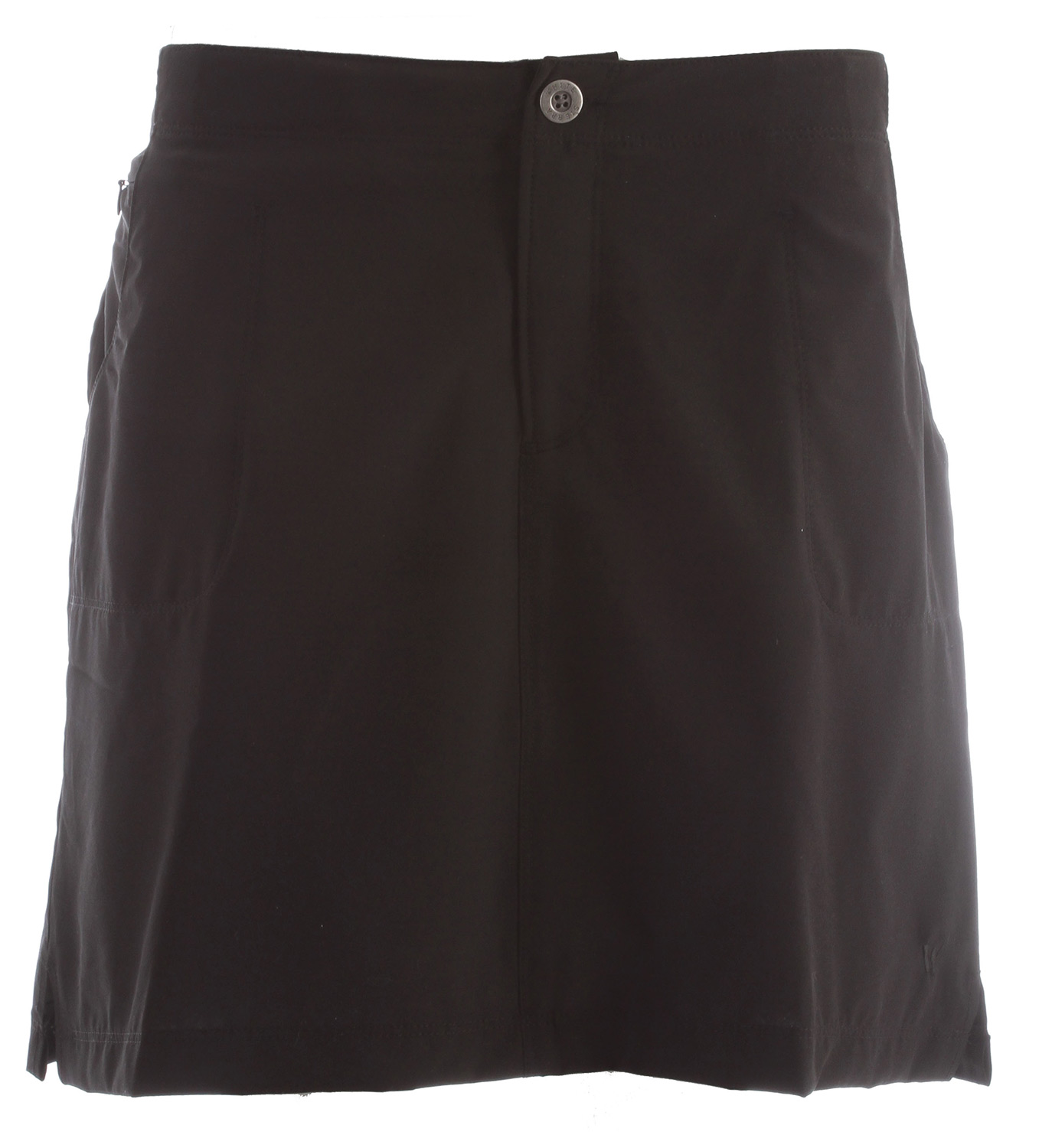 "Key Features of the White Sierra West Loop Trail Skort: HEADLANDS CLOTH 92% polyester 8% elastane soft poplin woven Sun protection fabric Travel friendly Comfort fit back elastic Attached interior shorts Zip secure hip pocket Fabric weight: 3.5oz Skirt length: 17"" Short inseam: 5.5"" - $36.00"