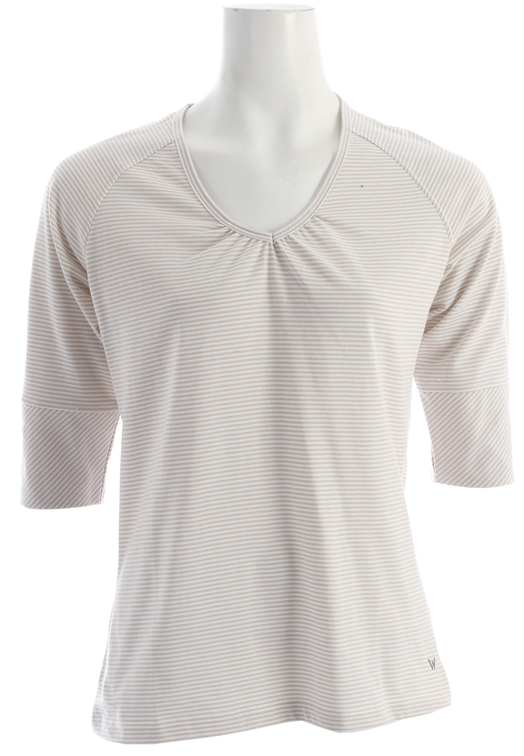 White Sierra Sunlit Stripey 3/4 Sleeve T-Shirt - $19.95