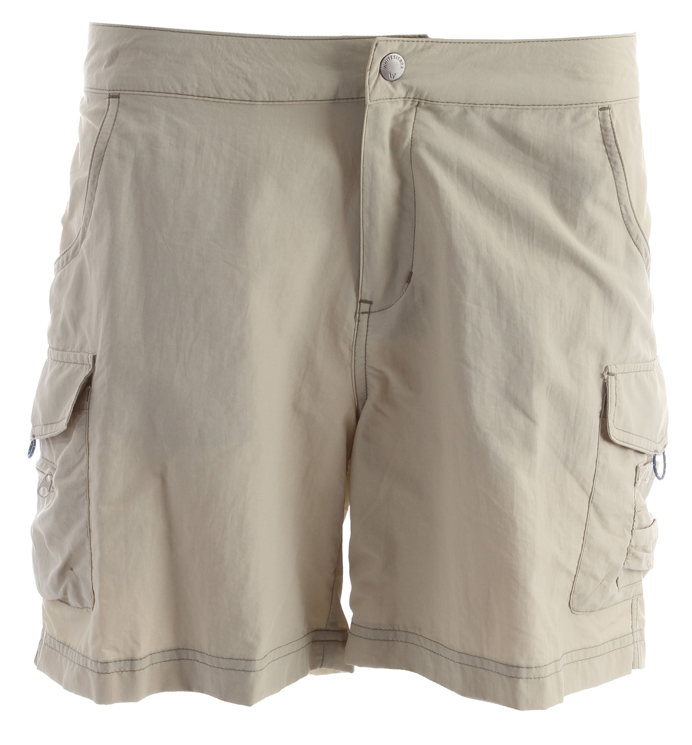 "Key Features of the White Sierra Crystal Cove River Shorts: RIVER CLOTH 100% nylon woven UPF 30 Quick dry Travel friendly Comfort fit side elastic Contrast color topstitching Side cargo pockets Fabric weight: 4oz Inseam: 6"" - $28.00"