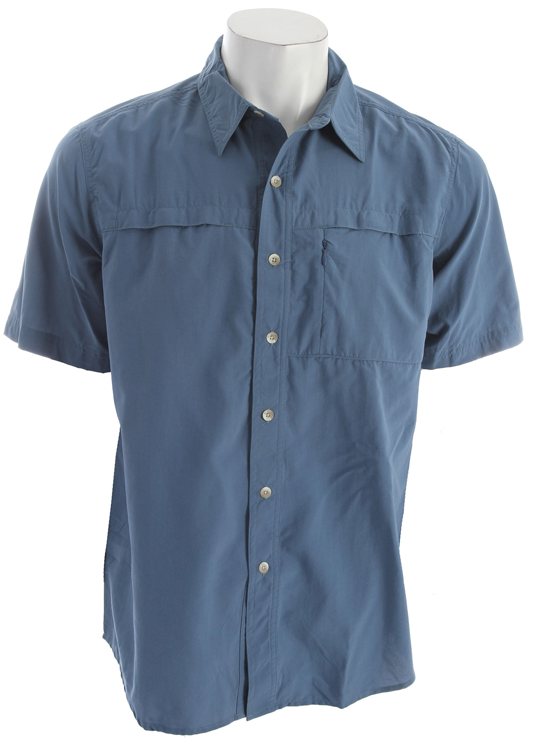"Go trekking on the trails in Moab and beat the hot summer sun with the Sierra Kalgoorlie Shirt for men. With a UPF rating of 30 and nylon woven fabric, this shirt will shield your skin from the rays and dry quickly. Key Features of the White Sierra Kalgoorlie Shirt:  TRAVEL CLOTH  100% sanded nylon woven  UPF 30  Wicking  Travel friendly  Zip secure chest pocket  Back venting  Fabric weight: 3oz  Center back length: 31.5"" - $26.95"