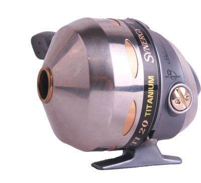 Hunting Incredibly strong, this Shakespeare Synergy TI-20 spincasting reel is a favorite amongst bow-fishers for good reason its tough enough to handle the rigors of this sport while performing well at the same time. It comes pre-spooled with 125 feet of abrasion-resistant 200-lb. Monkey Wire, and is ready to use out of the box. Features strong multidisc adjustable drag system, titanium line guides, twin ball bearings and a reversible EZ-Grip handle. Color: Gray. Type: Bowfishing Reels. - $44.99