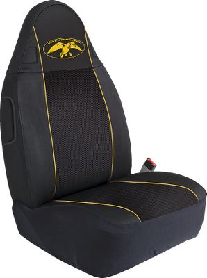 Hunting Go straight from the duck blind to the drivers seat. Get the fit, protection and comfort that Polyester and expanded mesh affords in a functional seat cover. Each seat cover is made of 600 Denier Polyester that will repel water and stains while the center panel is made of 3D expanded mesh providing ventilation and comfort. Because Polyesters pliable nature, it conforms to your vehicles seats like a glove. Polyester also resists bunching and pulling for years of maintenance-free use. The Duck Commander logo on each cover converts your truck or SUV into a waterfowlers paradise. Imported. Per each. Available: Bucket Seat, Bench Seat. Color: Black. Color: Black. - $16.88