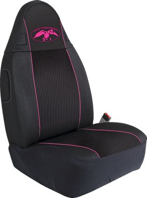 Hunting Go straight from the duck blind to the drivers seat. Get the fit, protection and comfort that Polyester and expanded mesh affords in a functional seat cover. Each seat cover is made of 600 Denier Polyester that will repel water and stains while the center panel is made of 3D expanded mesh providing ventilation and comfort. Because Polyesters pliable nature, it conforms to your vehicles seats like a glove. Polyester also resists bunching and pulling for years of maintenance-free use. The Duck Commander logo on each cover converts your truck or SUV into a waterfowlers paradise. Imported. Available: Bucket Seat, Bench Seat Color: Pink. - $17.88