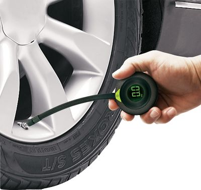 Entertainment Check your tires air pressure with simple one-button operation. 6 hose wraps around gauge for easy, compact storage. Gender: Male. Age Group: Adult. - $12.99