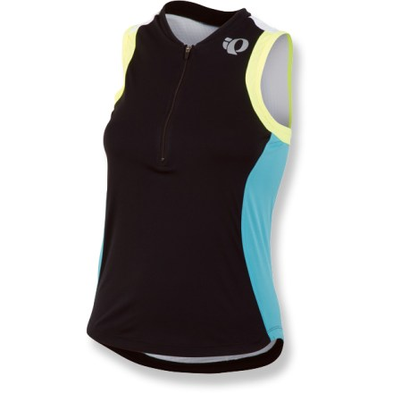 Fitness The women's Pearl Izumi Select Tri SL jersey gets you primed for the finish line with highly breathable fabric and sleek lines. Polyester fabric wicks sweat away and provides UPF 50+ protection from harmful ultraviolet rays. 10 in. front zipper ventilates instantly. Venting panels encourage cooling airflow so you won't overheat. 2 rear envelope pockets offer easy access to your triathlon essentials. Semifitted Pearl Izumi Select Tri SL jersey is not too loose and not too tight. - $60.00