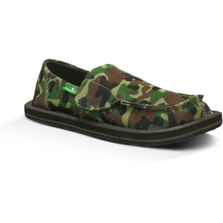 Surf The Sanuk Army Brat slip-on shoes feature a fun camo print that's sure to please. They'll love the great fit and easy style of these shoes! - $9.83