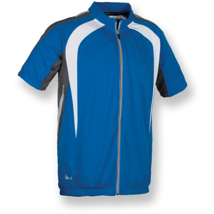 Fitness Gear up for a race-day performance-or just head out for a leisurely weekend ride. Either way, the Serfas Caldera full-zip bike jersey makes it easy to enjoy watching the miles fly by. Lightweight, breathable polyester fabric wicks moisture away from skin and dries quickly, keeping you comfortable while you're working hard. Full-length zipper provides immediate ventilation when you need to cool off, plus easy on-and-off. Elastic at cuffs and silicone gripper at bottom hem keep the Serfas Caldera bike jersey in place as you ride. 3 elastic back pockets easily store small essentials such as keys, ID and energy gels. Semifitted cut stays close to the body without being too tight; reflective details on shoulders, sides and zipper add visibility in low light. Closeout. - $22.73