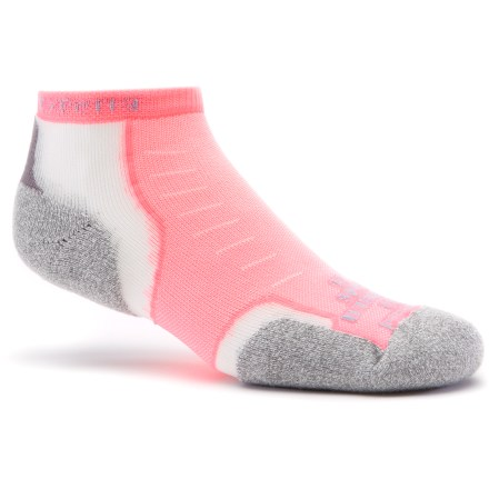 Fitness The Thorlo Experia Running socks are padded for medium cushioning and tailored for performance with minimal bulk--and now they come in fun new electric colors! - $14.95