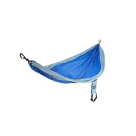 Camp and Hike Free Shipping. Eagles Nest Single Nest Hammock DECENT FEATURES of the Eagles Nest Single Nest Hammock 400 lb Capacity Aluminum Wiregate Carabiners Heavy Duty Triple Stitched Seams Breathable, Quick Drying Nylon Attached Compression Stuff Sack The SPECS Weight: 17 oz. Materials: Nylon Folded dimensions: (Dia x L) 3.5in. x 4.5in. Unfolded dimensions: (L x W) 9' 4in. x 4' 7in. Best use: Family/car camping & backpacking - $59.95