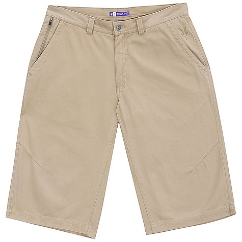 Free Shipping. Ibex Men's Five-O Long Short DECENT FEATURES of the Ibex Men's Five-O Long Short Regular fit Zippered stash pocket and 2 back zippered pockets with locking pulls Knee darts for articulation Imported The SPECS Inseam with gusset: (hits top calf): 16in. 100% Organic cotton canvas (GOTS Certified) GMT wash 8.5 oz/yd2 - $90.00
