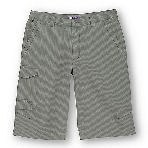 Free Shipping. Ibex Men's Gozo Stripe Commuter Short DECENT FEATURES of the Ibex Men's Gozo Stripe Commuter Short Regular fit Reflective tape on inside hem; flips up as needed Safe pocket with locking zipper pull Welted back patch pockets Thigh pocket with Velcro flap Articulated knees Imported The SPECS Inseam: 14in. Organic cotton and Hemp blend canvas (78% GOTS certified organic cotton/22% Hemp) Stonewashed 7.5 oz/yd2 - $99.95