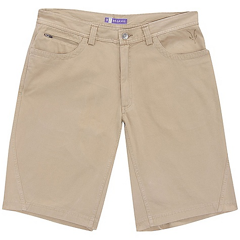 Free Shipping. Ibex Men's Rim Rock Short DECENT FEATURES of the Ibex Men's Rim Rock Short Regular fit Zippered coin pocket with locking pull 2 back patch pockets Imported The SPECS Inseam with gusset: (knee length): 12in. 100% Organic cotton canvas (GOTS Certified) GMT wash 8.5 oz/yd2 - $84.95