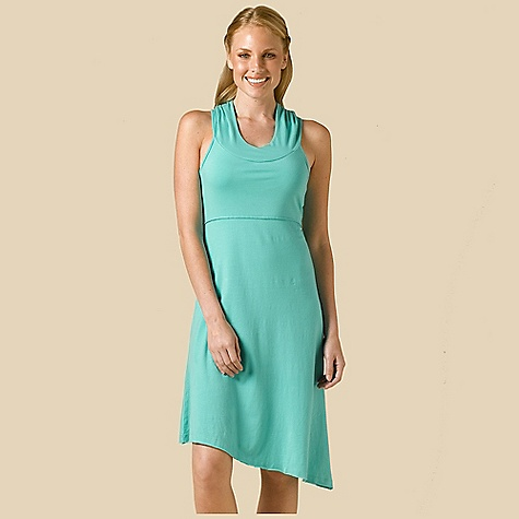 Entertainment Free Shipping. Prana Women's Alana Dress DECENT FEATURES of the Prana Women's Alana Dress Stretch jersey Tank dress with hood Empire seam and assymetrical bottom hem Internal shelf bra Length: 37in. / 94 cm The SPECS 95 Organic Cotton / 5 Spandex - $69.95