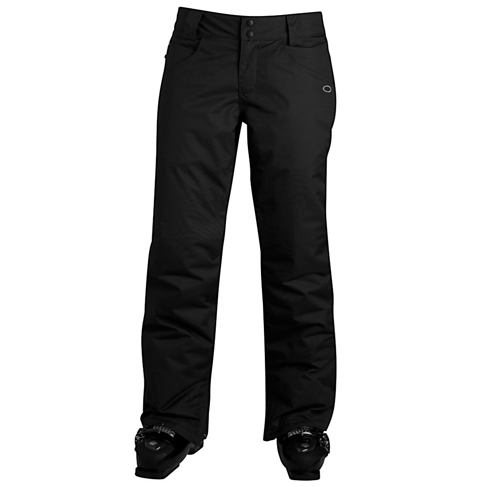 Ski Oakley Fit Insulated Womens Ski Pants - The Oakley Fit Insulated Pants brings on the ultimate in technical and fit, for snowboard pants. The fit, style and shape of The Fit Pants are amazing to what it offers in comfort and silhouette. Oakley is all about performance - The Fit Pant allows for extreme movement, flexibility, protection and all packed into a sweet style that is eye catching. Thinsulate insulation of 60g keeps your legs warm on the chairlift and while riding. The thigh ventilation zipper opens to let the temps flow, keeping you at a comfort level that allows you to experience unexpected weather conditions. The Fit Pants look so good and are so easy to wear, on the slopes you're good to go and kick back when lounging around a fire at the lodge. . Exterior Material: Polyester, Insulation Weight: 60g, Taped Seams: Critically Taped, Waterproof Rating: 10,000mm, Breathability Rating: 10,000g, Full Zip Sides: No, Thigh Zip Venting: Yes, Suspenders: None, Articulated Knee: No, Low Rise: No, Warranty: One Year, Race: No, Waterproof: Mild Waterproofing (5,001 - 10,000mm), Breathability: Mild Breathability (5,001 - 10,000g), Use: Ski, Type: Insulated, Pant Fit: Regular, Lining Material: Thinsulate, Waist: Adjustable, Pockets: 3-4, Warmth Factor: Warm, How Does This Fit?: True To Size, Model Year: 2013, Product ID: 307988, Model Number: 521393I 01K XS, GTIN: 0885614720953 - $79.99