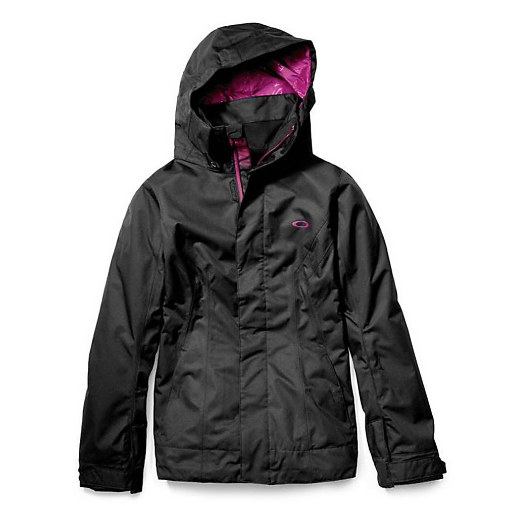 Ski Oakley Fit Womens Shell Ski Jacket - The Oakley Women's Fit shell winter jacket is perfect for any freeskier or snowboarder looking to minimize bulk without having to lose performance. Constructed from durable yet lightweight polyester, this women's winter shell jacket offers 10K breathability and waterproofing. Just throw on your favorite base layer top to insure you stay warm as you tackle the slopes. Critically taped seams are certain to keep you dry and zipped vents allow you to regulate the temperature control inside your jacket. With additional features like a storm flap with snaps and micro hook-and-loop closures for added protection, and a goggle/media player pocket for lens options or tunes storage, the Oakley Fit Jacket is going to be your new best friend on the slopes. . Breathability Rating: 10,000g, Hood Type: Removable, Pit Zip Venting: Yes, Powder Skirt: Yes, Warranty: One Year, Battery Heated: No, Cuff Type: Velcro, Wrist Gaiter: No, Waterproof Zippers: No, Cinch Cord Bottom: Yes, Warmth Factor: No Insulation, How Does This Fit?: True To Size, Model Year: 2013, Product ID: 307953, Model Number: 511450 01K S, GTIN: 0885614724814, Breathability: Mild Breathability (5,001 - 10,000g), Waterproof: Mild Waterproofing (5,001 - 10,000mm), Insulation Type: None (Shell), Length: Medium, Jacket Fit: Regular, Type: Shell, Race: No, Use: Ski, Hood: Yes, Goggle/Sunglasses Pocket: Yes, Electronics Pocket: Yes, Pockets: 4-5, Waterproof Rating: 10,000mm, Taped Seams: Critically Taped, Insulation Weight: N/A, Exte - $69.96