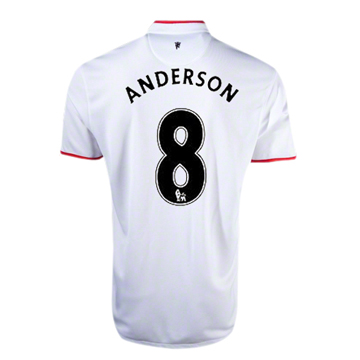 Entertainment Manchester United ANDERSON #8 Away Soccer Jersey 2012-13 Season