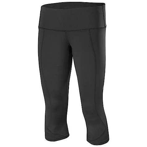 Free Shipping. Isis Women's Mossa Capri DECENT FEATURES of the Isis Women's Mossa Capri Reflective logo detailing for added visibility 4in. stretch waistband construction for superior comfort and freedom of movement Hidden inner pocket for convenient access to essentials Subtle compression for a flattering fit The SPECS Inseam: Medium: 18.5in. Fabric: 87% Nylon, 13% Spandex - $68.95