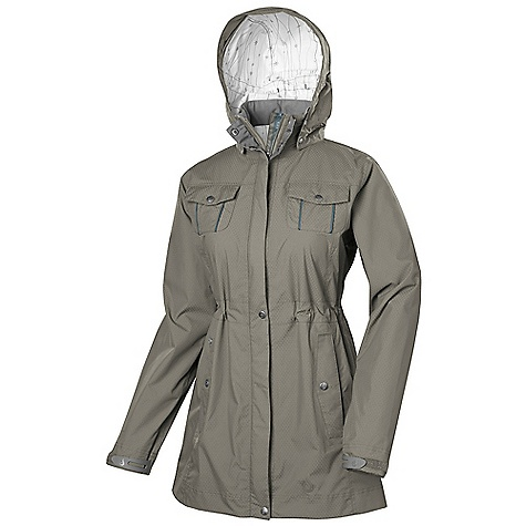 Free Shipping. Isis Women's Eclipse Jacket DECENT FEATURES of the Isis Women's Eclipse Jacket XPR Dobby Fully seam-sealed construction Convenient locker loop inside neck Double storm flap with rain channels prevent water from penetrating the zipper Laser cut hook and loop cuffs with rubberized tabs Sophisticated metal snap detailing Inner draw cord at waistband for customizable adjustability The SPECS Body Length: 31.5in. Fabric: 100% Nylon - $158.95