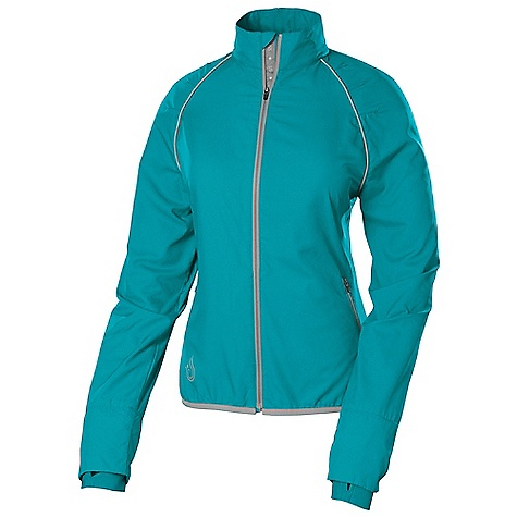 Fitness Free Shipping. Isis Women's Endura Run Jacket DECENT FEATURES of the Isis Women's Endura Run Jacket Reflective detailing for added visibility Wind and water resistant properties Brushed elastic hem maintains athletic fit Integrated thumbholes maintain sleeve position Upper back mesh panel for active ventilation The SPECS Body Length: 24in. Fabric: 100% Polyester Cuff: 80% Nylon, 20% Spandex - $98.95