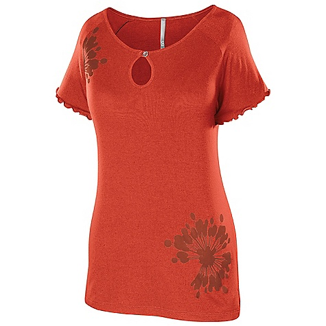 Isis Women's Flora Cap Sleeve Top DECENT FEATURES of the Isis Women's Flora Cap Sleeve Top Flutter sleeve detail Keyhole button neckline Easy Care/Easy Wear - packs easy, maintains shape, and wrinkle resistant The SPECS Body Length: 25in. Fabric: 95% Viscose, 5% Spandex - $44.95
