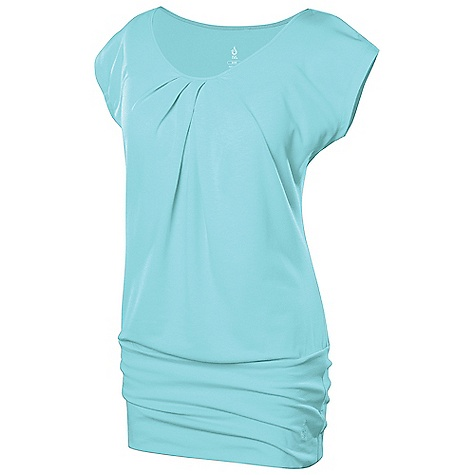 Isis Women's Sienna Cap Sleeve Top DECENT FEATURES of the Isis Women's Sienna Cap Sleeve Top Dri - Release Quick dry properties for ultimate dryness Fresh Guard finish prevents odor Neckline pleats for flattering fit The SPECS Body Length: 28in. Fabric: 81% Polyester, 14% Cotton, 5% Spandex - $44.95