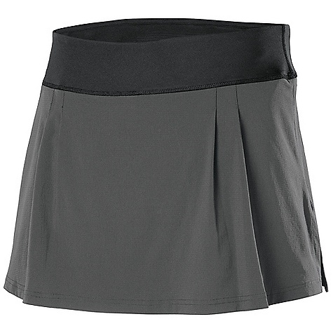 Free Shipping. Isis Women's Corsa Skort DECENT FEATURES of the Isis Women's Corsa Skort Stretch waistband construction for superior comfort and freedom of movement Hidden inner pocket for convenient access to essentials Stretch woven shell with compression knit inner short for active performance Lined gusset crotch for added freedom of movement The SPECS Length: 14.5in. Inner Short Inseam: Medium: 5in. Fabric: 86% Nylon, 14% Spandex Shell Inner Short: 86% Polyester, 14% Spandex - $58.95