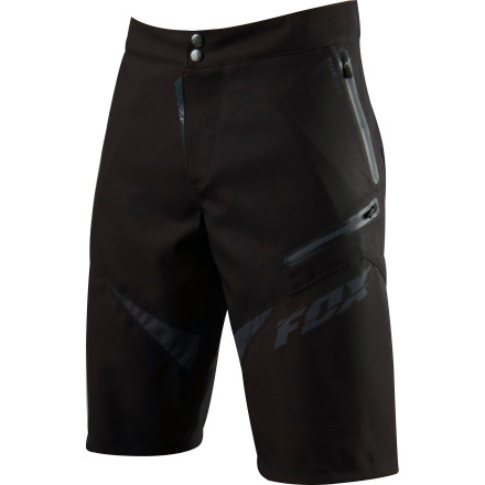 MTB When it comes to hot summer riding, dry comfort is king and it rules with the iron fist of airflow. The folks at Fox Racing know this, and they designed the Demo FR Freeride Shorts to keep you as cool as possible during hot summer rides. Quick-dry polyester construction ensures cool, dry comfort, even on all-day epics, and 2-way stretch eliminates binding for an unlimited range of motion. Fox even equipped the Demo FRs with mesh panels front and rear that promote airflow to keep you cool, dry, and comfortable for a full day of serious riding.The Demo FRs are also bristling with pocket space so you can bring along all the little essentials that keep you cranking hard in the trees. Most importantly, a media-specific pocket with audio interface takes care of your MP3 player so you don't hook your headphone cord and wind up tuneless. The Fox Racing Demo FR Shorts come in Black/Red and Black and is available in even sizes 30 through 38. - $129.95