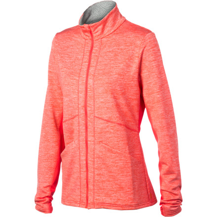Fitness Whether that four-mile loop is a daily event or a once-in-a-while happening, enjoy it on cool days wearing the Lucy Women's Race Your Heart Out Jacket. This running jacket boasts a steamlined, figure-flattering fit and a performance-oriented assemblage of fabrics that just might put a little extra spring in your step. - $98.00