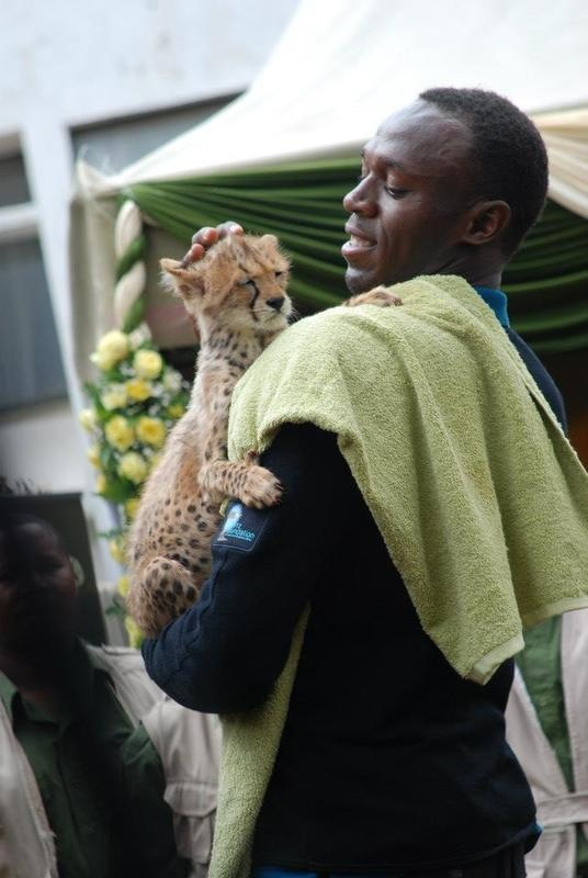 Sports First official photo of Usain Bolt and his son