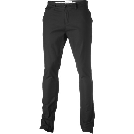 The Ezekiel Traveler Pant features a modern slim cut and slightly stretchy cotton fabric for comfy freedom of movement whether you're practicing backside flips or taking your lady out for sushi. - $32.97