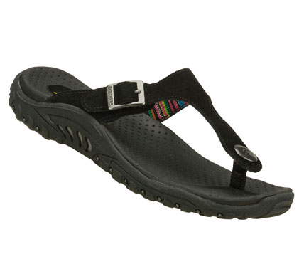 Surf Combine warm weather style with comfort in the SKECHERS Reggae - Soul Beats sandal.  Soft suede upper in a thong sandal with adjustable buckle and supportive comfort sole. - $50.00