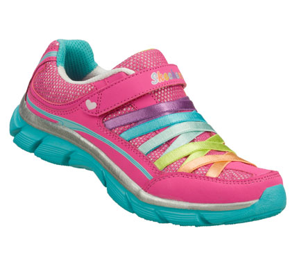 She'll love the light weight and sporty fun style of the SKECHERS Lite Dreamz - Soft Dreamz shoe.  Smooth trubuck leather and metallic woven fabric upper in a slip on sporty casual sneaker with stitching and overlay accents. - $40.00