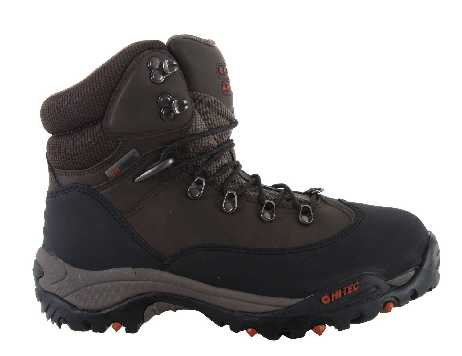 Camp and Hike Support is a must when you are climbing up the side of a mountain or jogging up and down trails. The Hitec Yeti 2 200 casual boots make you feel like a mountaineer with their durable molded construction and aggressive winter traction perfect for traipsing through freezing snow. A comfortable memory foam sock liner cushions your dogs so they don't bark at you by the end of a long day out in the wild. Waterproof and insulated, these boots can take anything you throw at 'em.Key Features of the Hitec Yeti 2 200 Casual Boots: Microfiber And Nylon Upper 200G Thermolite Insulation Thermo-Dri@ Waterproof And Insulated Systems Waterproof Bootie Construction Ion Mask Waterproof Tech Molded Heel And Forefoot For Added Durability Lightweight Compression Molded Eva Midsole Aggressive Winter Traction With Anti Freeze Rubber Mdt Carbon Rubber Outsole Outsole Siping Aids In Winter Traction Comfort Tec Custom Memory Foam Sockliner - $71.95