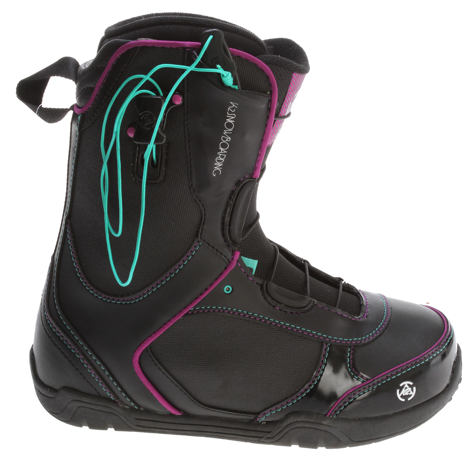 Snowboard Made for the advancing women's rider looking for lightweight and easy to tighten performance. The Scene is not just street focused style without substance. Intuition custom fit and Conda ankle hold adjustment on the fly show up all those that try and step.Key Features of the K2 Scene Snowboard Boots: FLEX: 4 LACING SYSTEM: K2 Speedlace LINER LACING: Conda LINER: Intuition Comfort fit 3D OUTSOLE: Low-Pro Outsole FOOTBED: EVA Insole LINER FIT: Custom Moldable External J Bars DETAILS: 3D Formed Tongue - $103.95