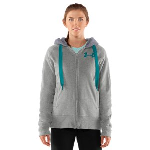 Fitness You know that old, worn out hoodie you've loved so hard it's starting to wilt when you wear it? It's time to cut the cord and get into a fresh cotton hoodie built with serious staying power. It's durable, has a super-plush Sherpa lining, a full-zip front for easy layering, and-best of all-it's got a highly water-resistant finish that makes sure you're never at the mercy of Mother Nature again. Because the only one who dictates your workout...is you. Unique 305g Charged Cotton(R) fleece with super-furry Sherpa lining for extreme warmthUA Storm technology repels water but stays soft & breathable for superior comfortLightweight stretch construction improves mobility for full range of motionRaglan sleeves unlock mobility for serious range of motion Two-piece hood with matching Sherpa lining Exaggerated ribbed cuffs and hemRibbed welt hand pockets and internal media chest pocketBody: 80% Cotton/20% PolyesterLining: PolyesterImported - $74.99