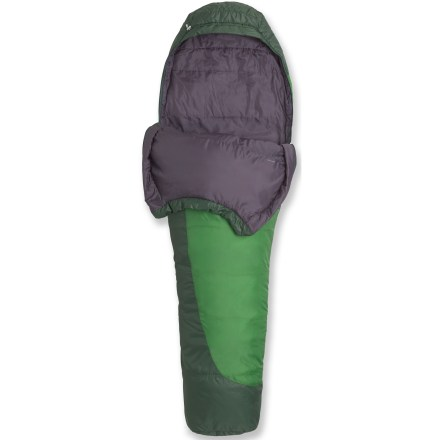 Camp and Hike Cold, damp weather calls for a synthetic insulated mummy bag. This 3-season sleeping bag offers lofty warmth, low bulk and excellent packability, and continues to insulate even if wet. - $73.93