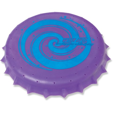 Camp and Hike Soak the Toysmith Water UFO with water and let it fly for a soaring, spinning splash in the pool, at the beach or through the backyard sprinkler. 5 in. foam flyer is easy to throwdegand soggy to catch. Comes in assorted colors only; sorry, specific color requests cannot be accommodated. - $0.83