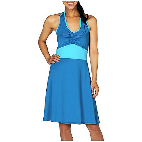 Entertainment Free Shipping. Ex Officio Women's Sol Cool Halter Dress DECENT FEATURES of the Ex Officio Women's Sol Cool Halter Dress Flatlock stitching Tagless label for added comfort Double layer front chest Security zipper pocket Quick Drying: Fibers release moisture easily so garment dries rapidly Stretch: Stretch fabric provides maximum mobility and comfort during activity Sun Guard 50+: Specialized fabric rated with a UPF (Ultraviolet Protection Factor) absorbs and reflects harmful rays, preventing them from damaging your skin Moisture Wicking: Fabric moves moisture along the garment's surface away from the skin Lightweight: Lightweight fibers make this weigh less than a similar garment Odor Resistant: Resists growth of bacteria and fungus that cause odors The SPECS Natural fit Sol Cool Jersey 91% Polyester / 9% Spandex - $74.95