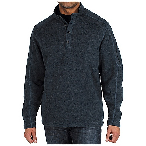 Free Shipping. Ex Officio Men's Alpental Pullover DECENT FEATURES of the Ex Officio Men's Alpental Pullover Security zip sleeve pocket Indestructible button closure Flat lock stitching Saddle shoulder Relaxed fit The SPECS Indestructible Button System: Buttons are secured by nylon loops sewn into the garment for durability Thermal: Effectively retains body heat High Warmth to Weight: The warmth of the garment is very high for the weight of the fabric High-Strength: Fabric has high tear strength ratio for maximum durability Quick Drying: Fibers release moisture easily so garment dries rapidly Fabric: Ridgeline Fleece, 100% Polyester - $69.95