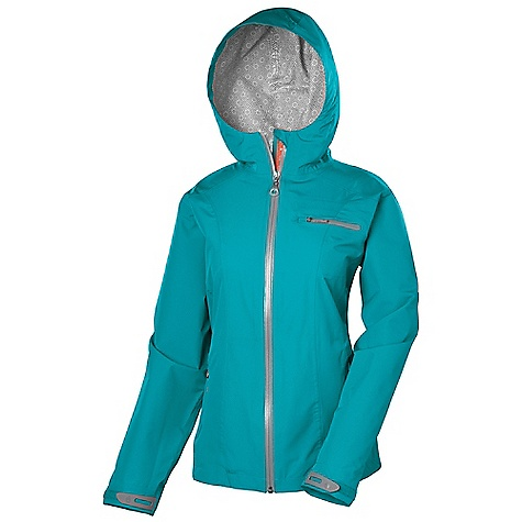 Free Shipping. Isis Women's Acqua Rain Shell Jacket DECENT FEATURES of the Isis Women's Acqua Rain Shell Jacket Cocona Fully seam-sealed construction Waterproof zippers Convenient locker loop inside neck Dual adjustable fixed hood with brim Laser cut hook and loop cuffs with rubberized tabs Draw cord hem The SPECS Body Length: 27in. Fabric: 100% Polyester - $164.95